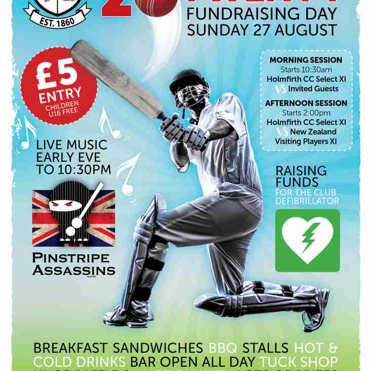 Sunday 27th August for a super Twenty Twenty event to help us raise funds for the HCC Defribulator