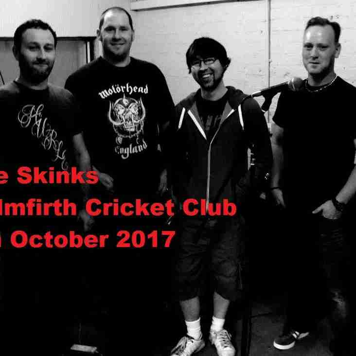 The Skinks on Friday night 6th Oct, Free Entrance