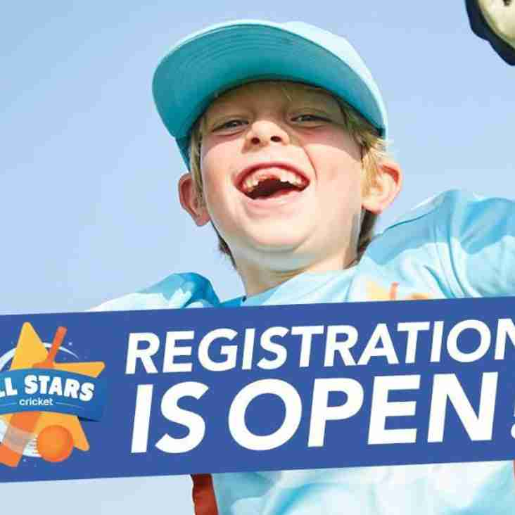 ECB All Stars Cricket - REGISTRATION IS LIVE!!
