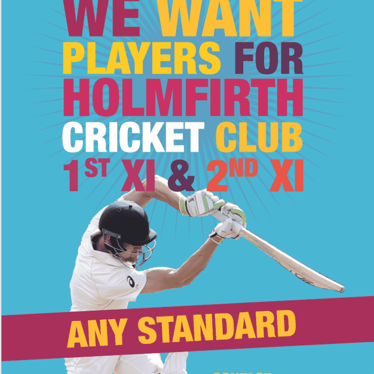 Players Wanted for Holmfirth Cricket Club 2019 Season