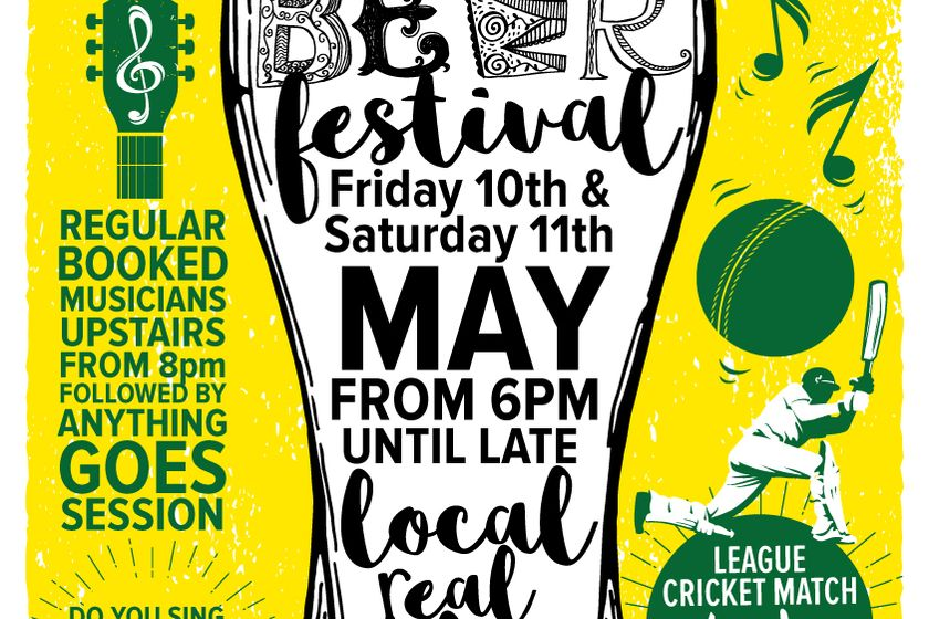 Beer festival at Holmfirth CC