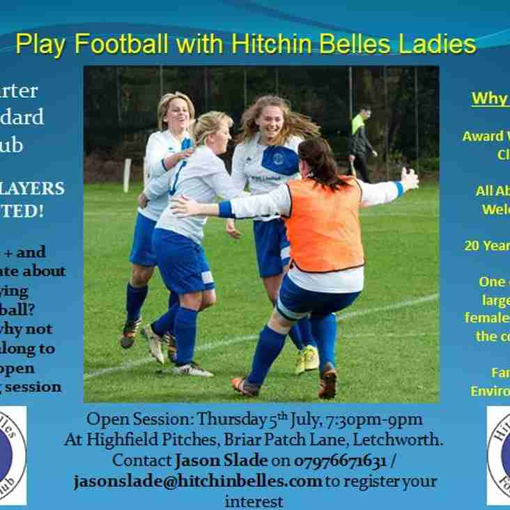 Hitchin Belles Ladies: New Players Needed!