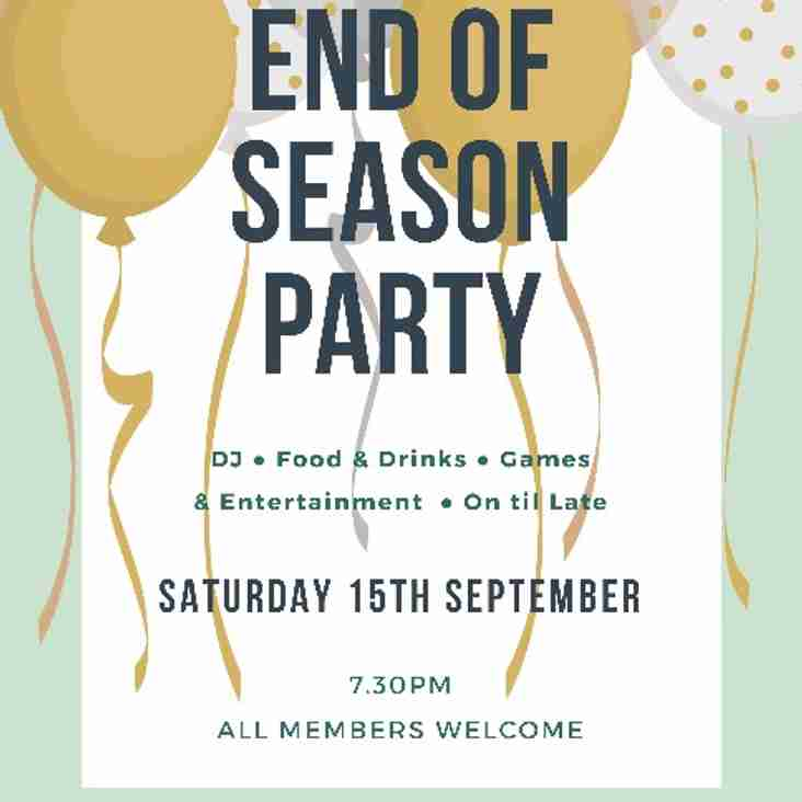 End Of Season Party