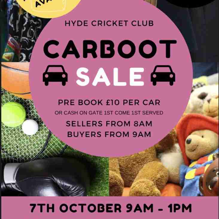 Car Boot Sale @ Hyde Cricket and Squash