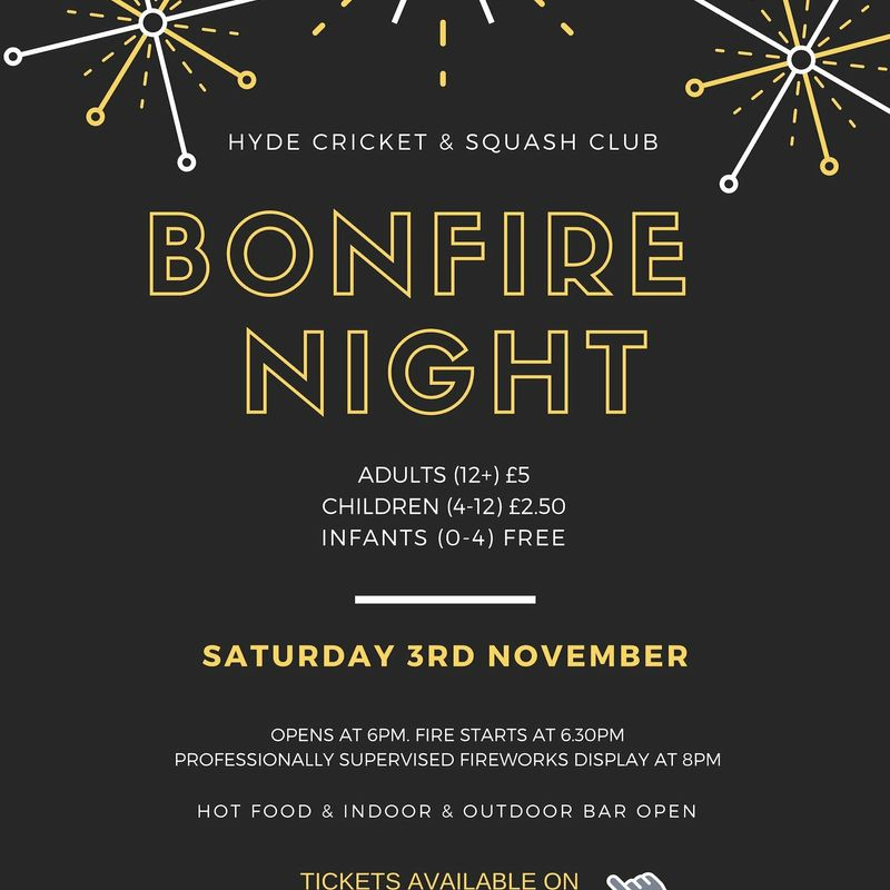 Bonfire Night at Hyde Cricket & Squash Club