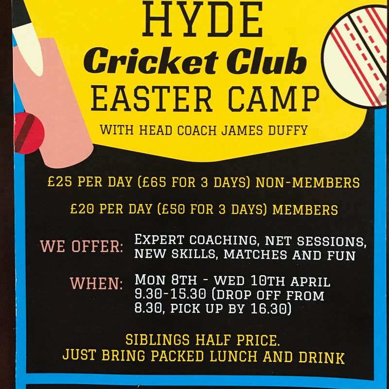 Cricket coaching for Easter holidays