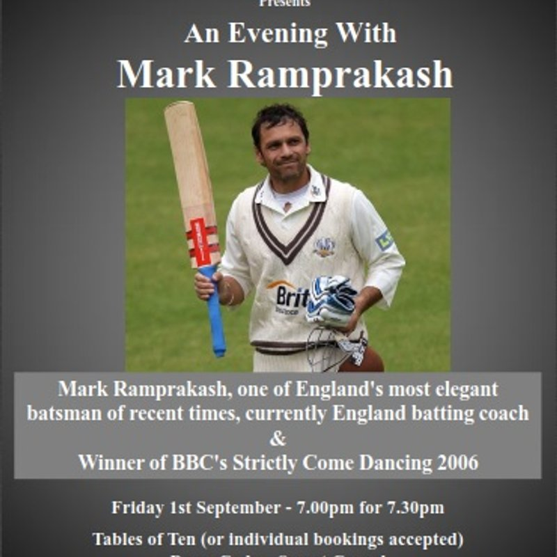 Sportman's Dinner With Mark Ramprakash - Friday 1st September