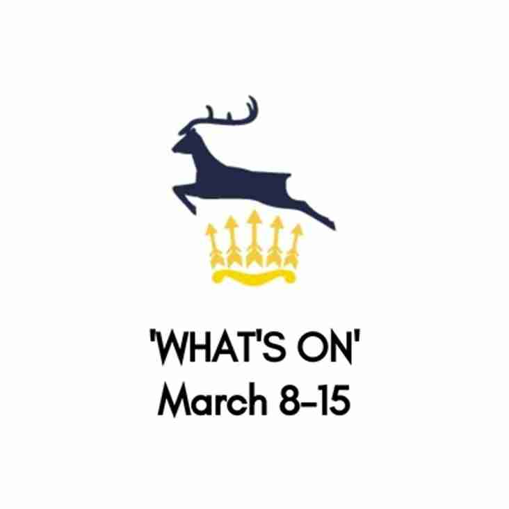 What's On At The Club, March 8-15