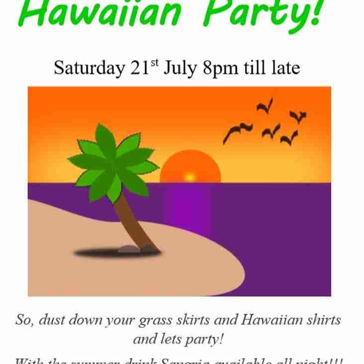 Summer Hawaiian Party And Disco 21st July
