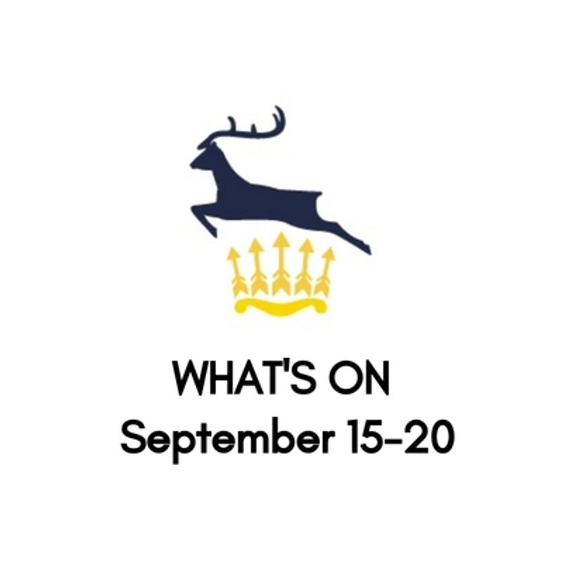 What's On At The Club, September 15-20
