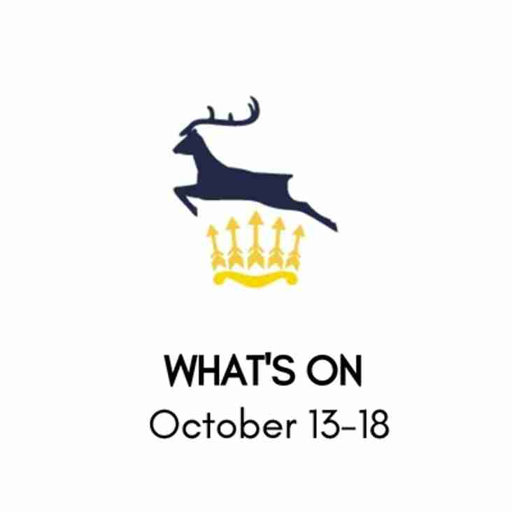 What's On At The Club, October 13-18