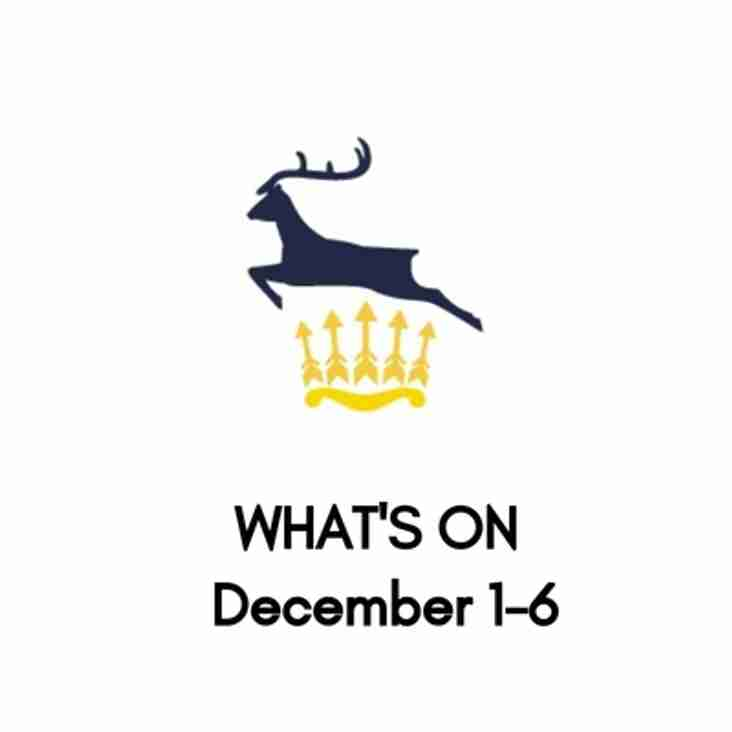 What's On At The Club, December 1-6