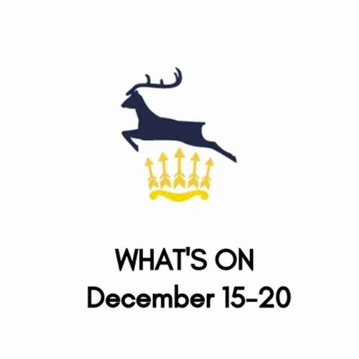 What's On At The Club, December 15-20
