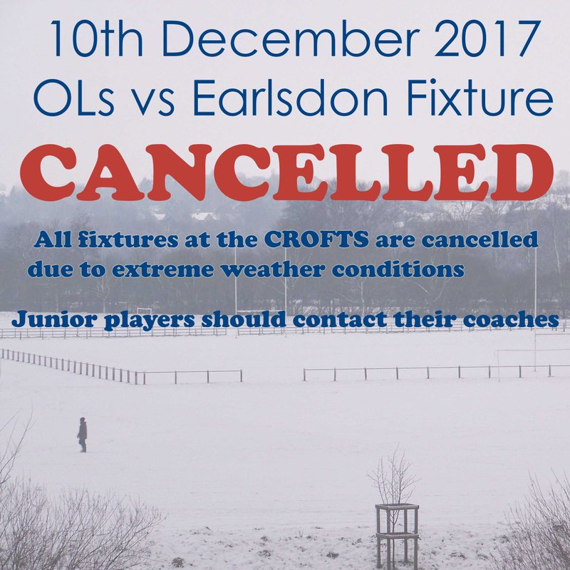 10th December Minis Fixtures CANCELLED