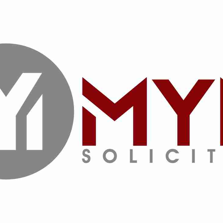 MYM Solicitors is our new club sponsor
