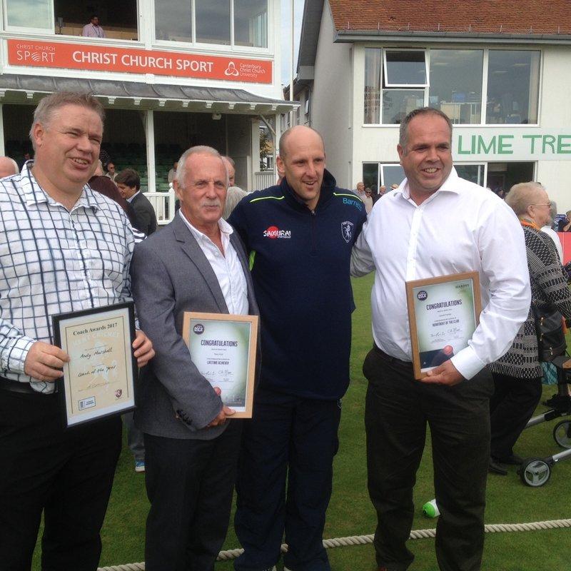Broadstairs trio receive prestigious County Awards at Spitfitre Ground