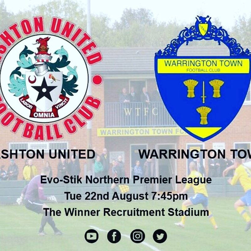 Ashton travel to Warrington