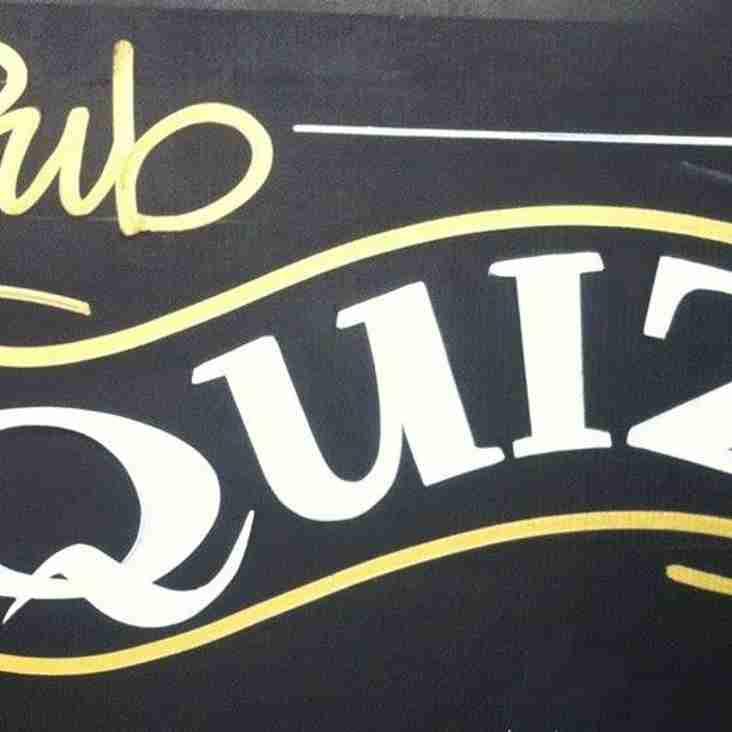 Pub Quiz This Saturday