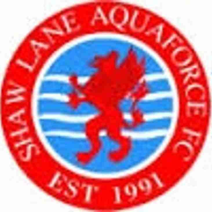 Next up -  Shaw Lane Aquaforce