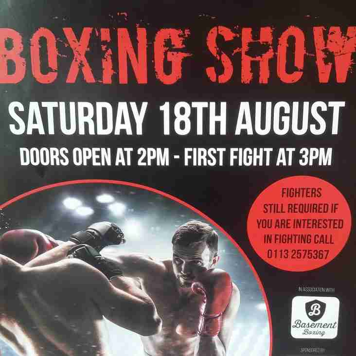 CHARITY BOXING 18TH AUGUST