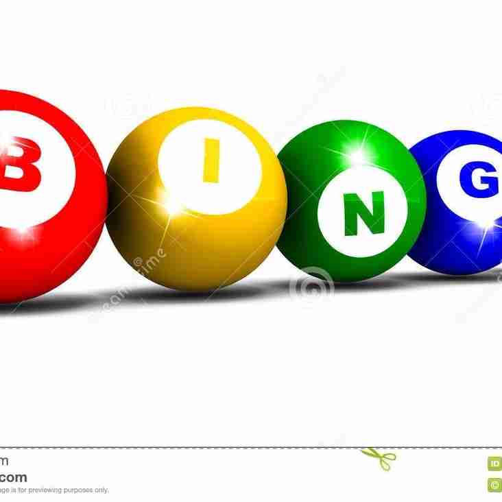 Saturday 1st October's Bingo has been cancelled sadly.