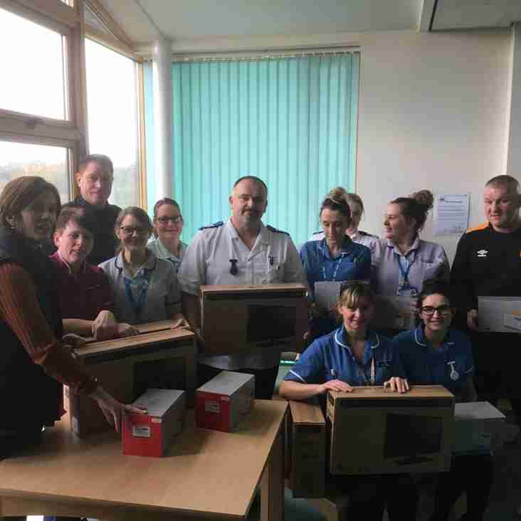 Digital Radios and TVs presented to Ward 33 Castle Hill Hospital