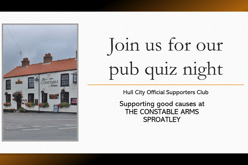 Quiz Night - Monday 11th March, The Constable Arms, Sproatley 8.30pm