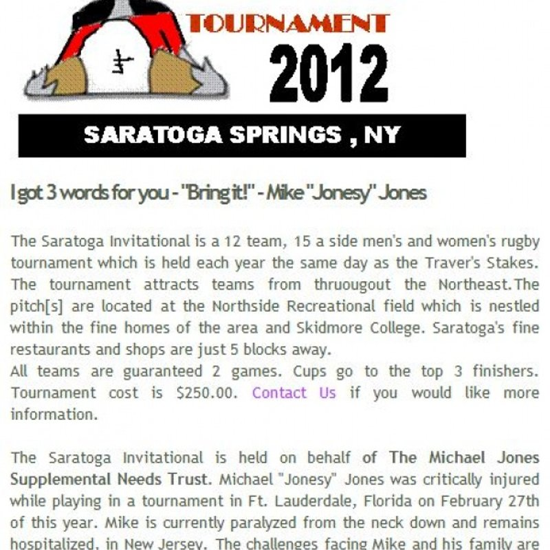 Saratoga Invitational Rugby Tournament.