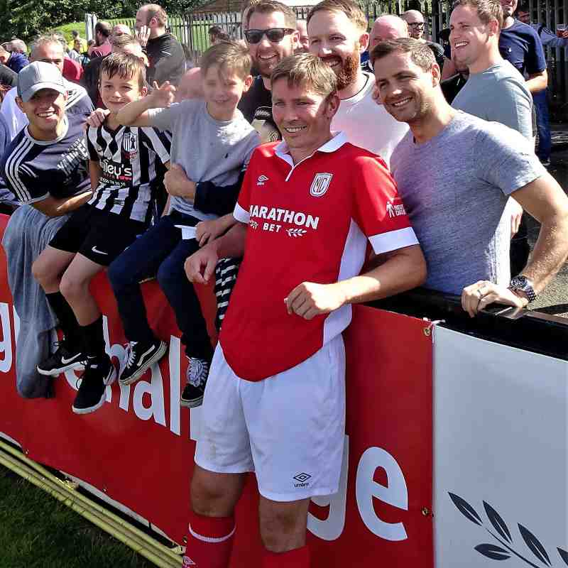 Matt Holland and supporters