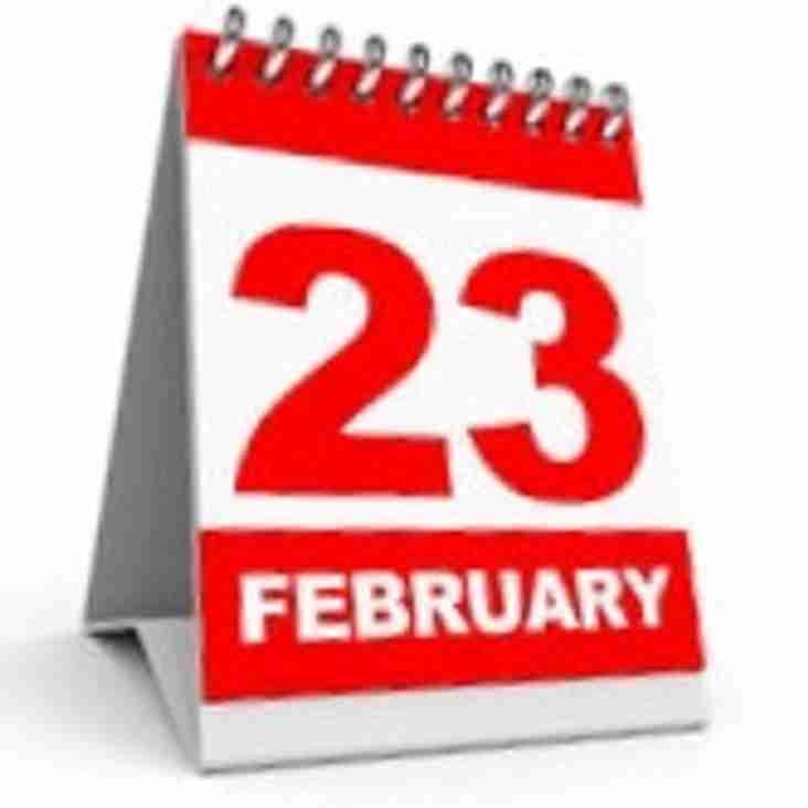 Sat 23rd Feb - Club Social Day