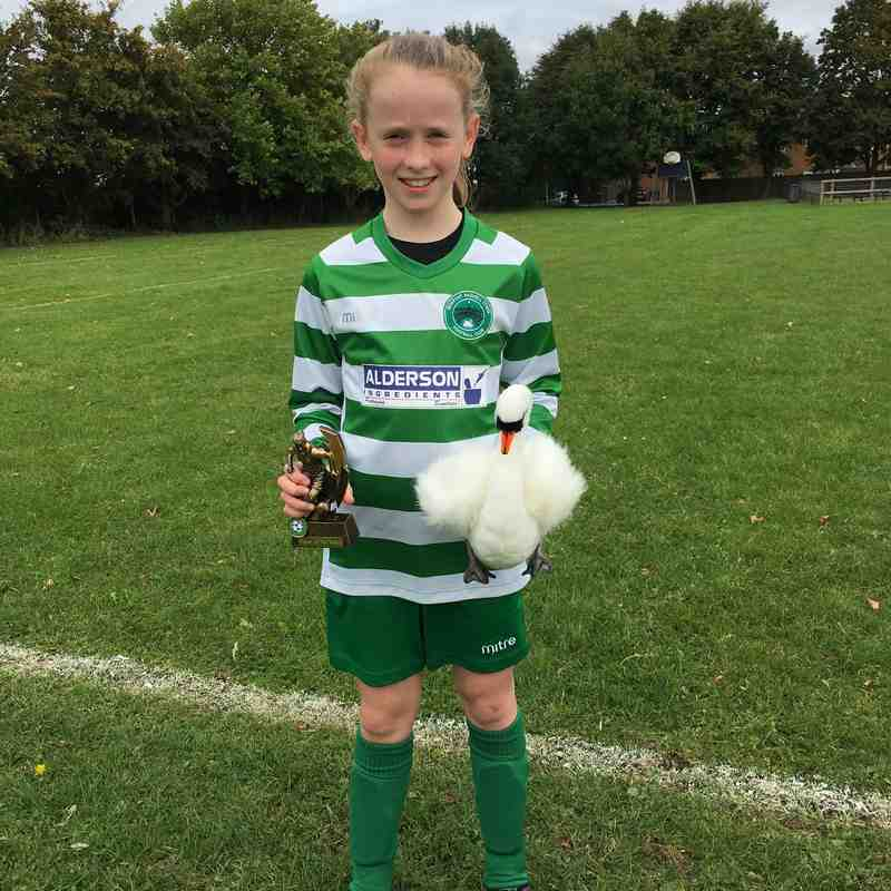 Player of The Match vs Biggleswade Jagurs Girls 23.09.17