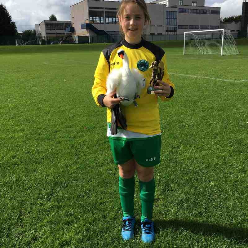 Player of The Match vs AFC Dunstable Girls  30.09.17