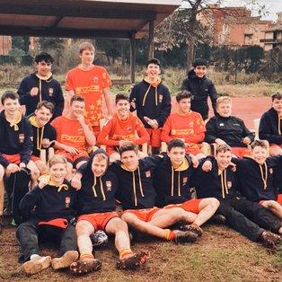 S.S. Lazio Rugby 1927 U16  5 -5 Cambridge U15