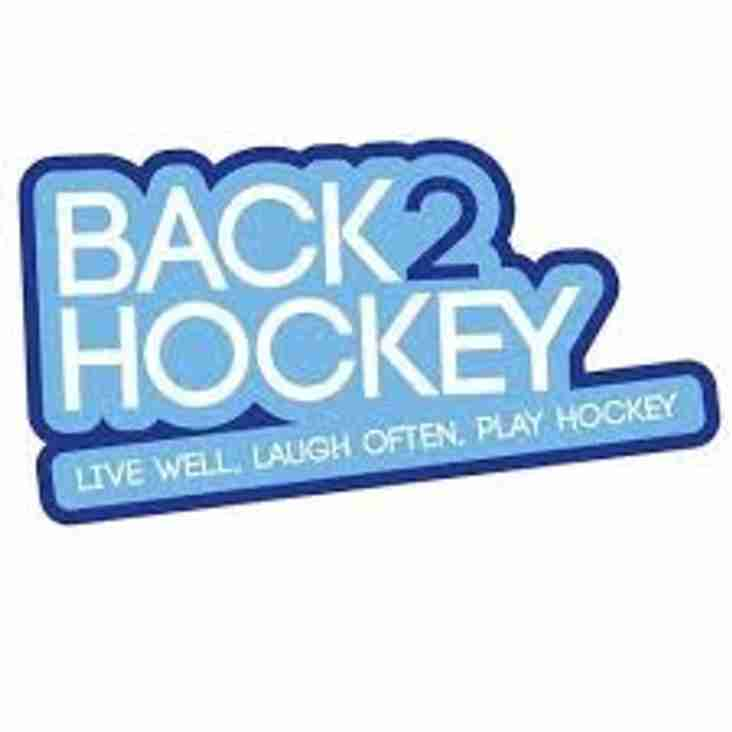 Back2Hockey sessions move back to Tuesdays 7pm-8:15pm