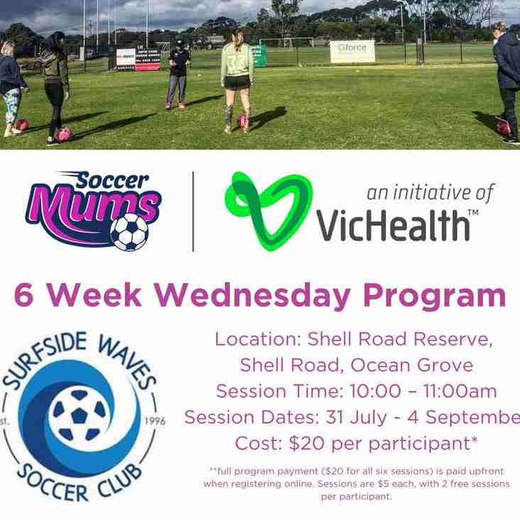 Don't miss SOCCER MUMS back at Ocean Grove in Term 3!