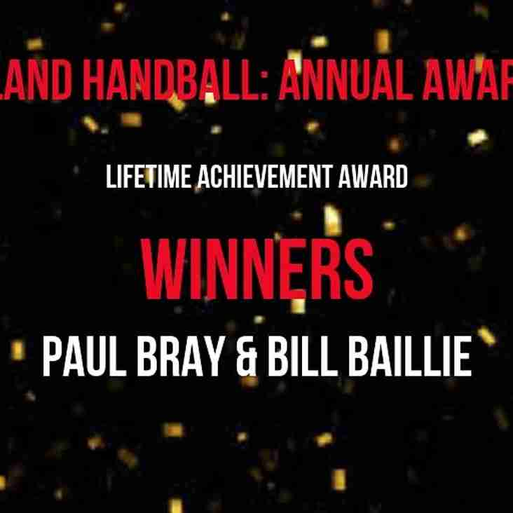 Paul Bray with the EHA Lifetime Achievement Award.