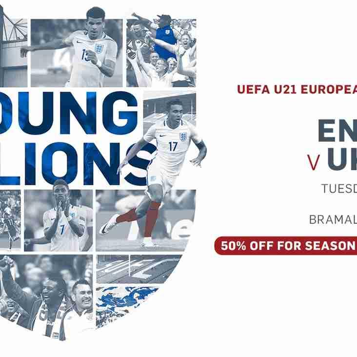 Tickets for England U21s vs Ukraine