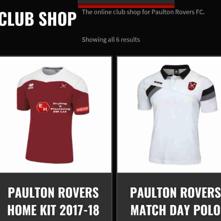 Paulton Rovers Club Shop