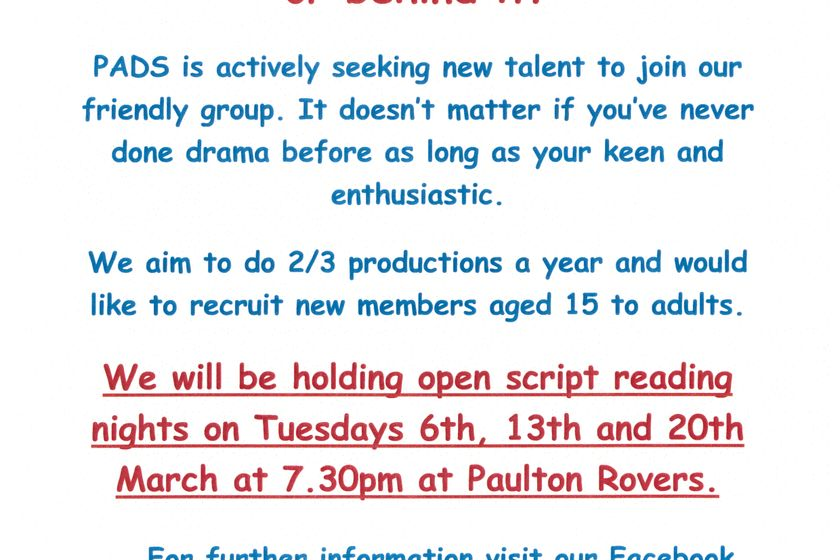 PADS is actively seeking new talent