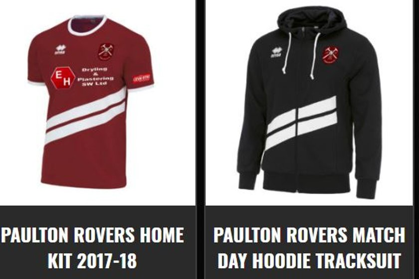 Paulton Rovers Club Shop