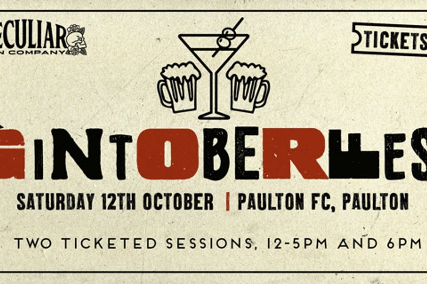 GINTOBERFEST IN COLLABORATION WITH THE PECULIAR GIN COMPANY