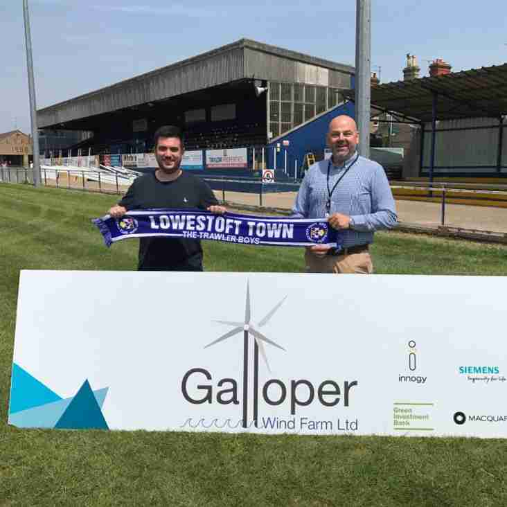 Lowestoft Town FC announce partnership with Galloper Wind Farm