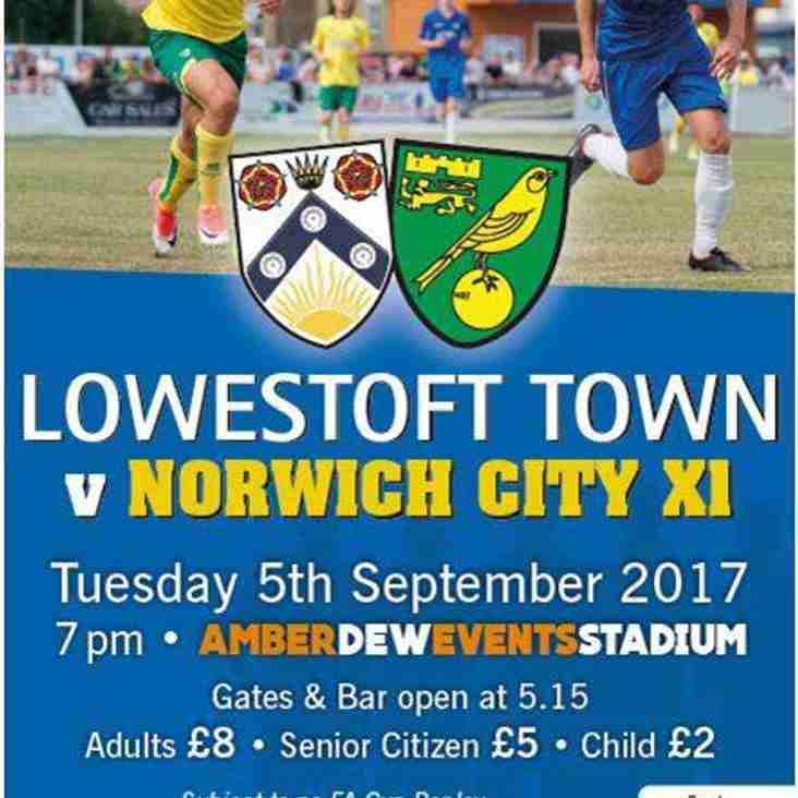 Norwich City return to town this Tuesday!