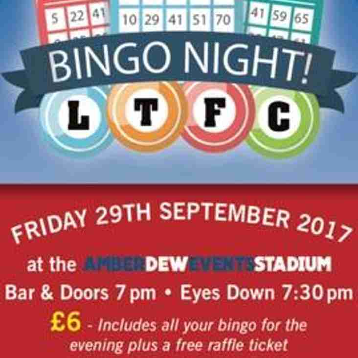 Lowestoft Town Bingo Night