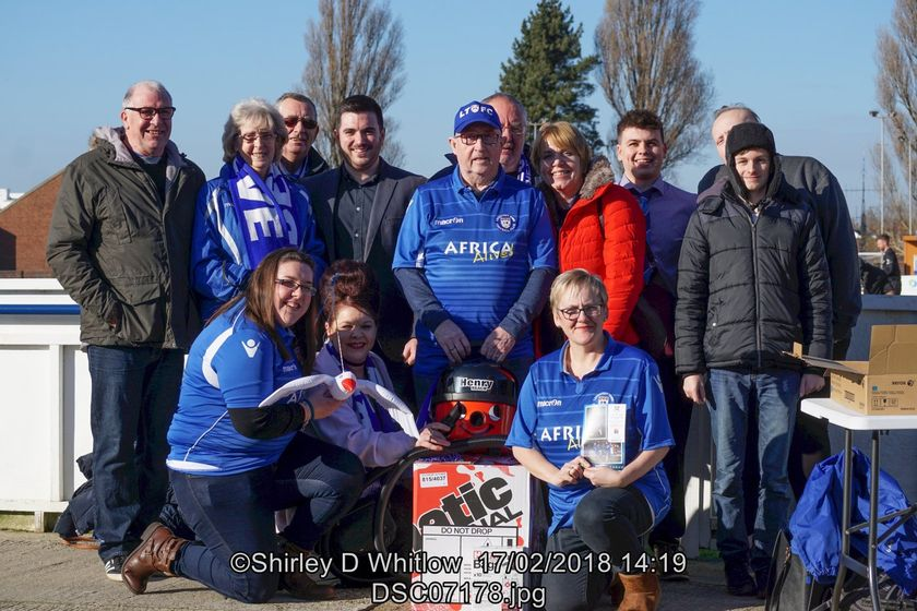 Lowestoft Town FC Fundraising Group donates new hoover to club