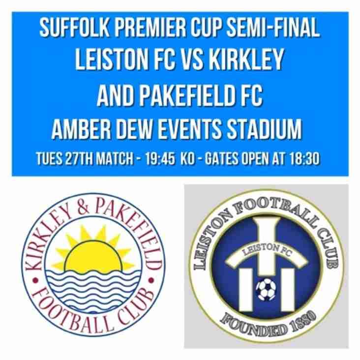 Leiston vs Kirkley & Pakefield at Amber Dew