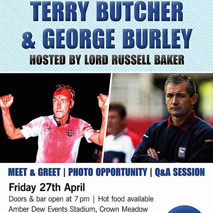 An evening with Terry Butcher & George Burley