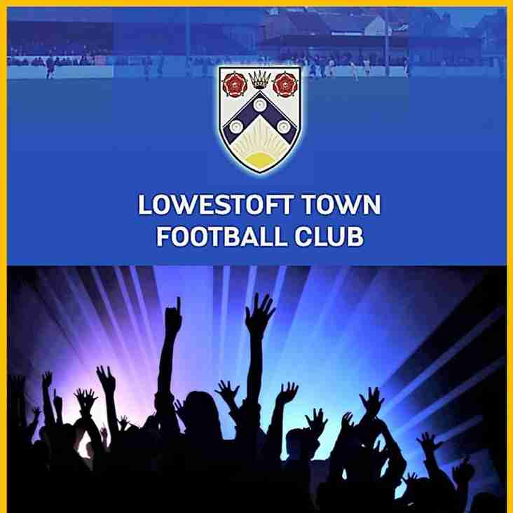 Lowestoft Town Football Club links up with The Saturday Gig