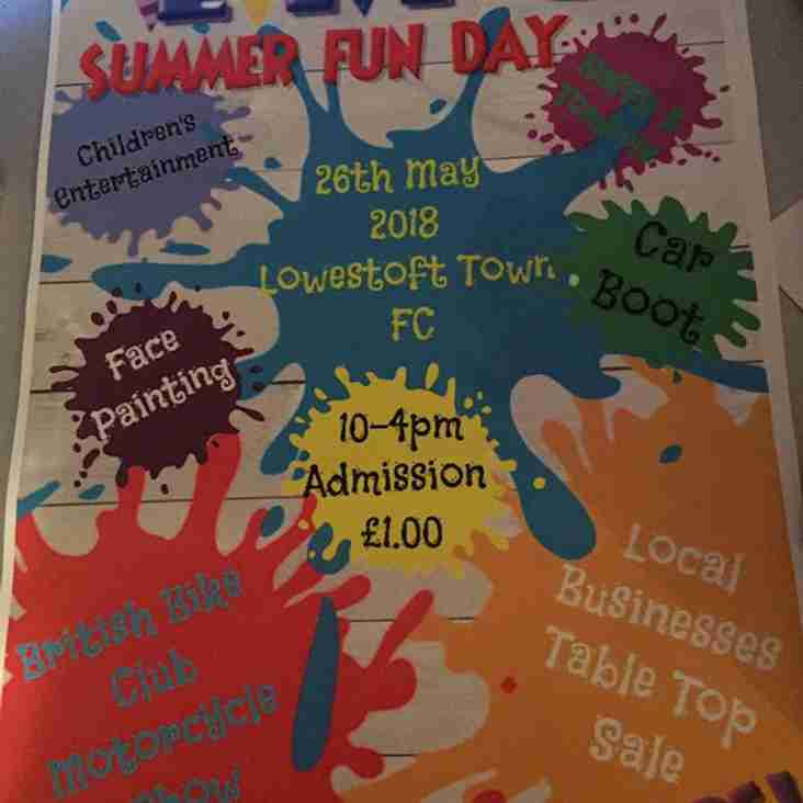 Lowestoft Town Football Club Summer Fun Day!
