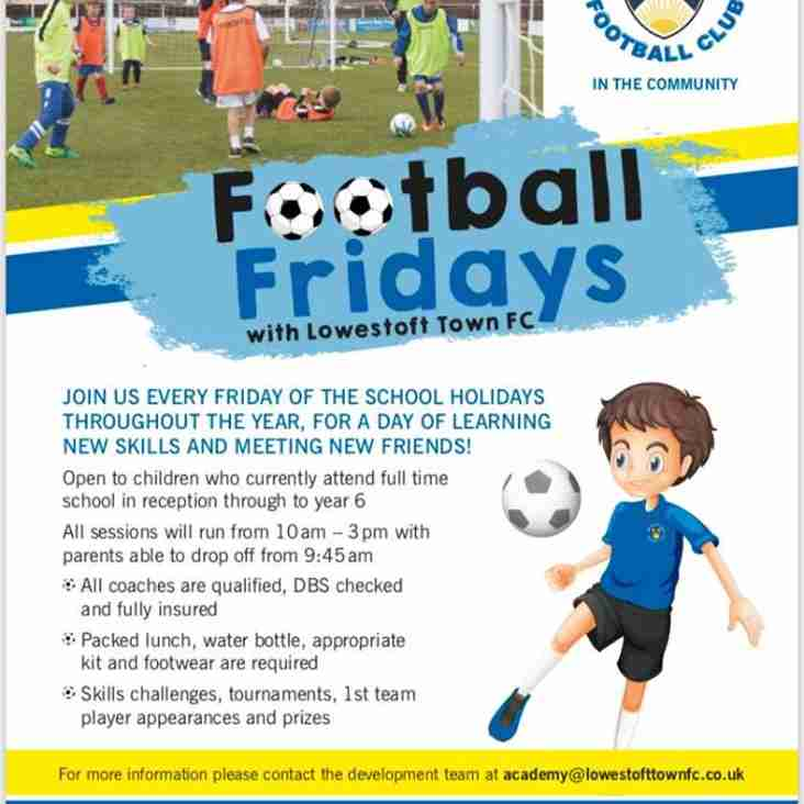 Football Fridays with Lowestoft Town FC